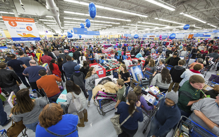 Walmart Black Friday Store Shoot